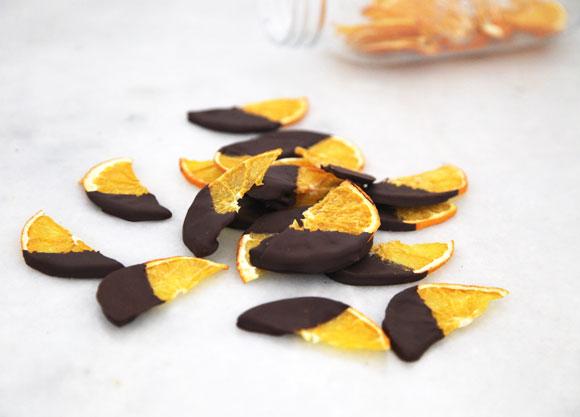 dard chocolate dipped oranges