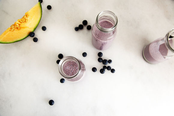 Blueberry and Rockmelon Smoothie