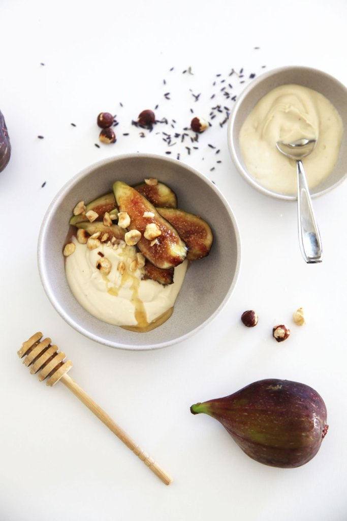 Figs with Honey-Lavender Creme Fraise