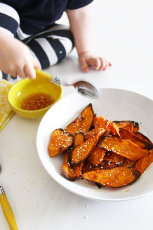 caramelised sweet potato - roasted in the oven and perfect for the whole family