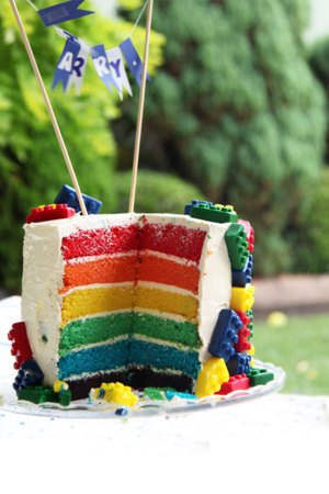Lego Rainbow Cake