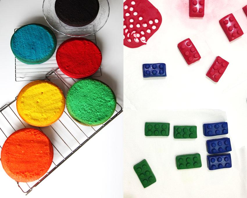 Lego Fondant for cake decorating