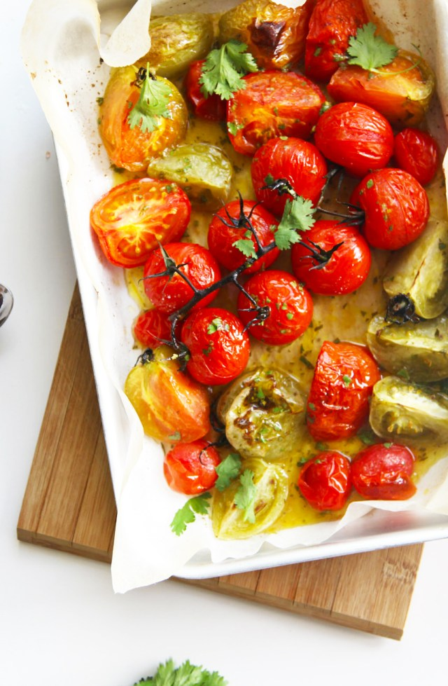 roasted-tomatoes-corriander-dressing