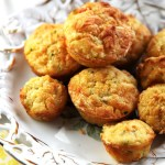 healthy zucchini, corn and tomato muffin