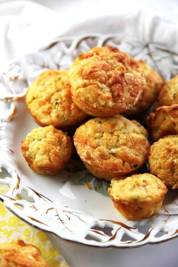 healthy zucchini, corn and tomato muffin
