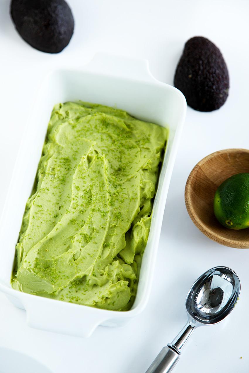 Healthy avocado ice cream. That's right, healthy ice cream. Smooth, creamy and delicious.