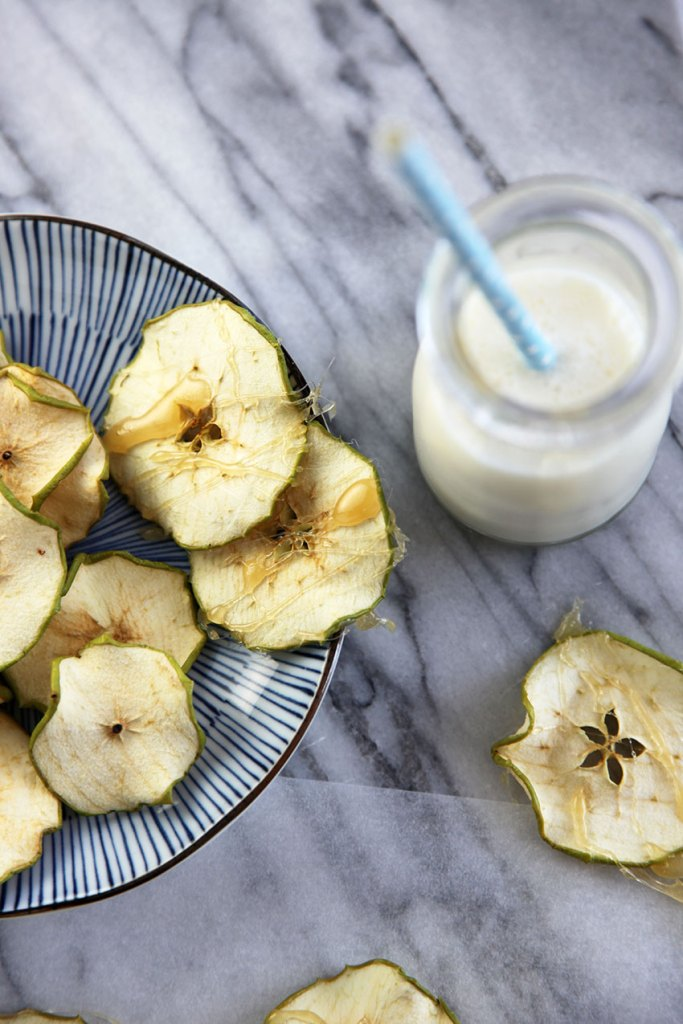 Apple Chips with Rosewater Toffee