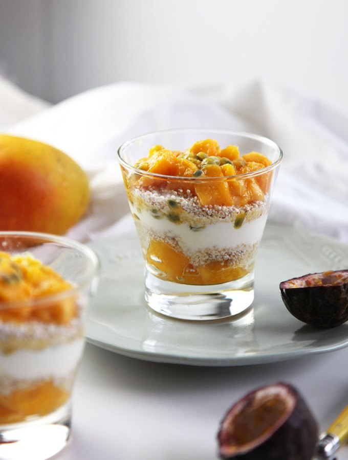 Mango and Puffed Amaranth Parfait