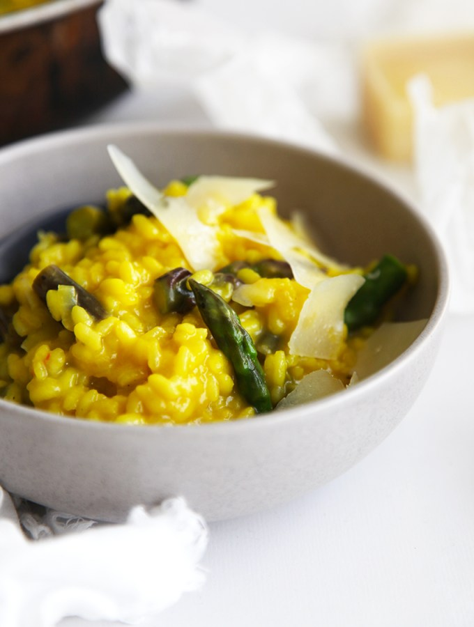 Asparagus and Saffron Risotto