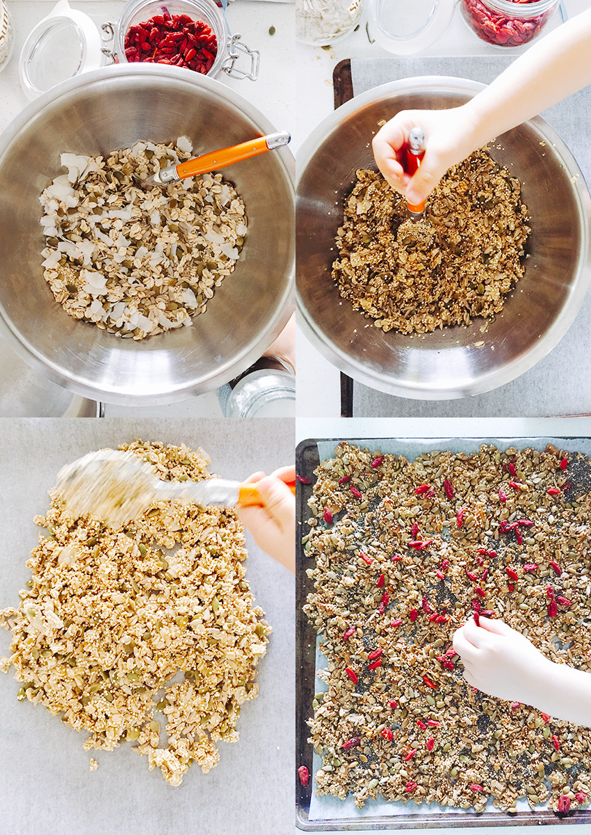 Nut-Free Granola with Quinoa, Seeds and Goji - so good you will be sprinkling it on your ice-cream not just your yoghurt