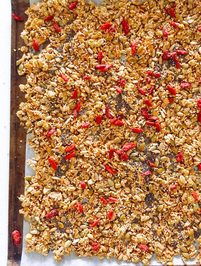 Nut-Free Granola with Quinoa, Seeds and Goji
