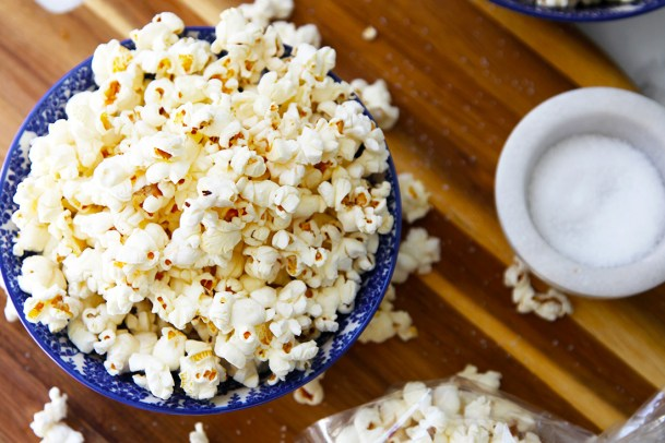Stove top popcorn - simple, healthy and delicious.