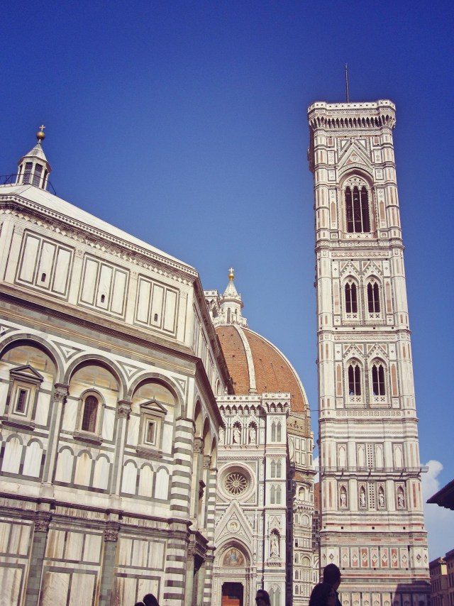 Giotto's bell tower next to the Duomo and baptistery
