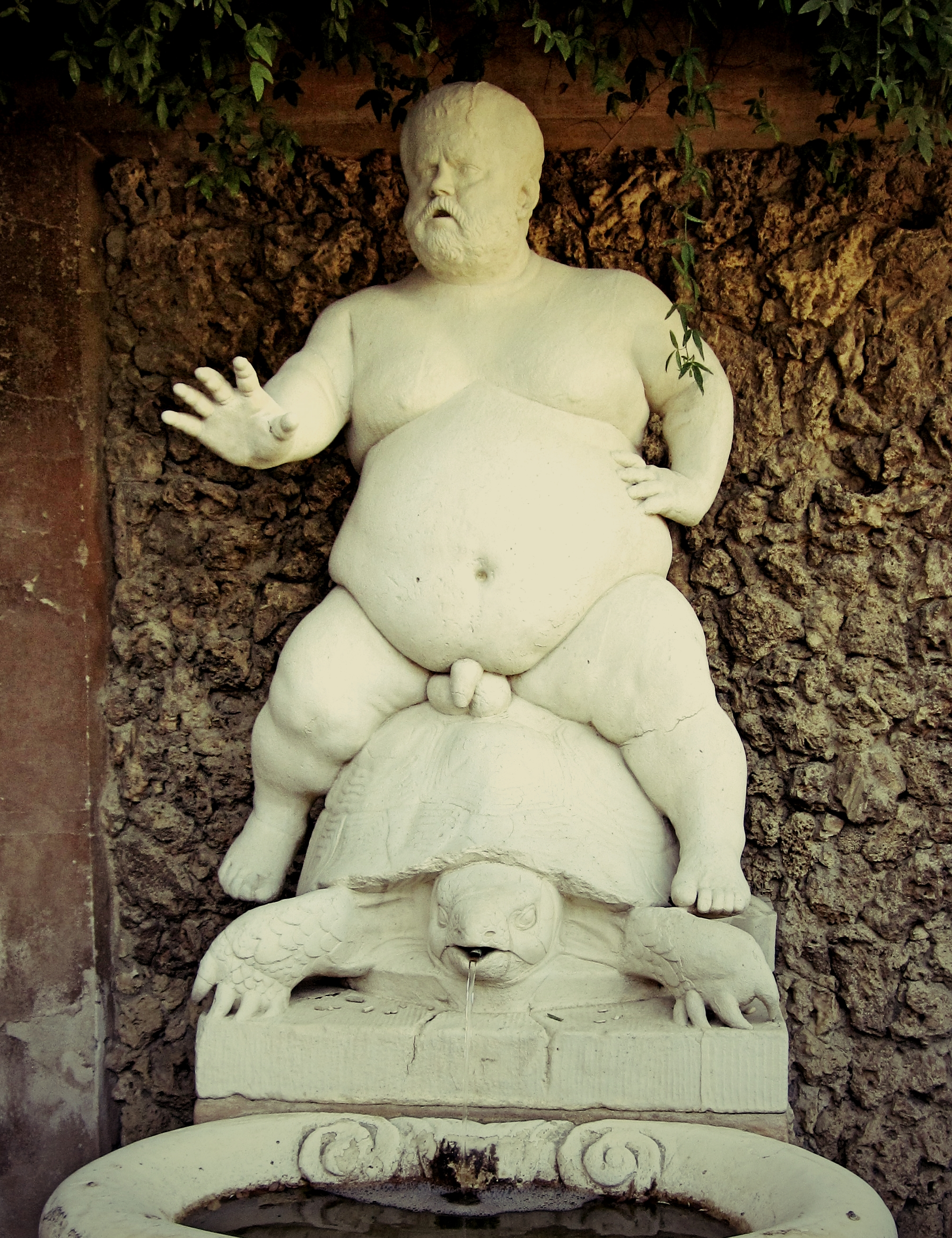 The fountain of Bacchus, in the Boboli Gardens in the grounds of Palazzo Pitti.