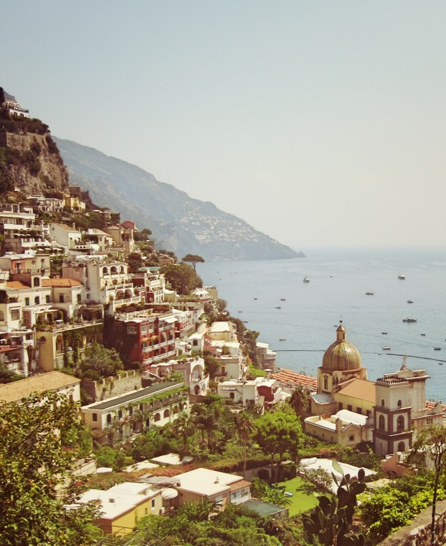 The lovely hillside town of Positano on the Amalfi Coast