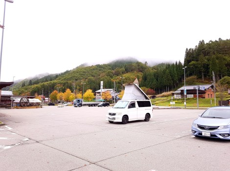 Mazda Bongo in the mountains just outside Takayama