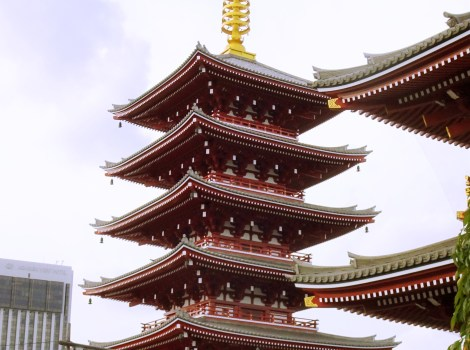 The 5-storey pagoda next to Tokyo's oldest temple, Senso-Ji
