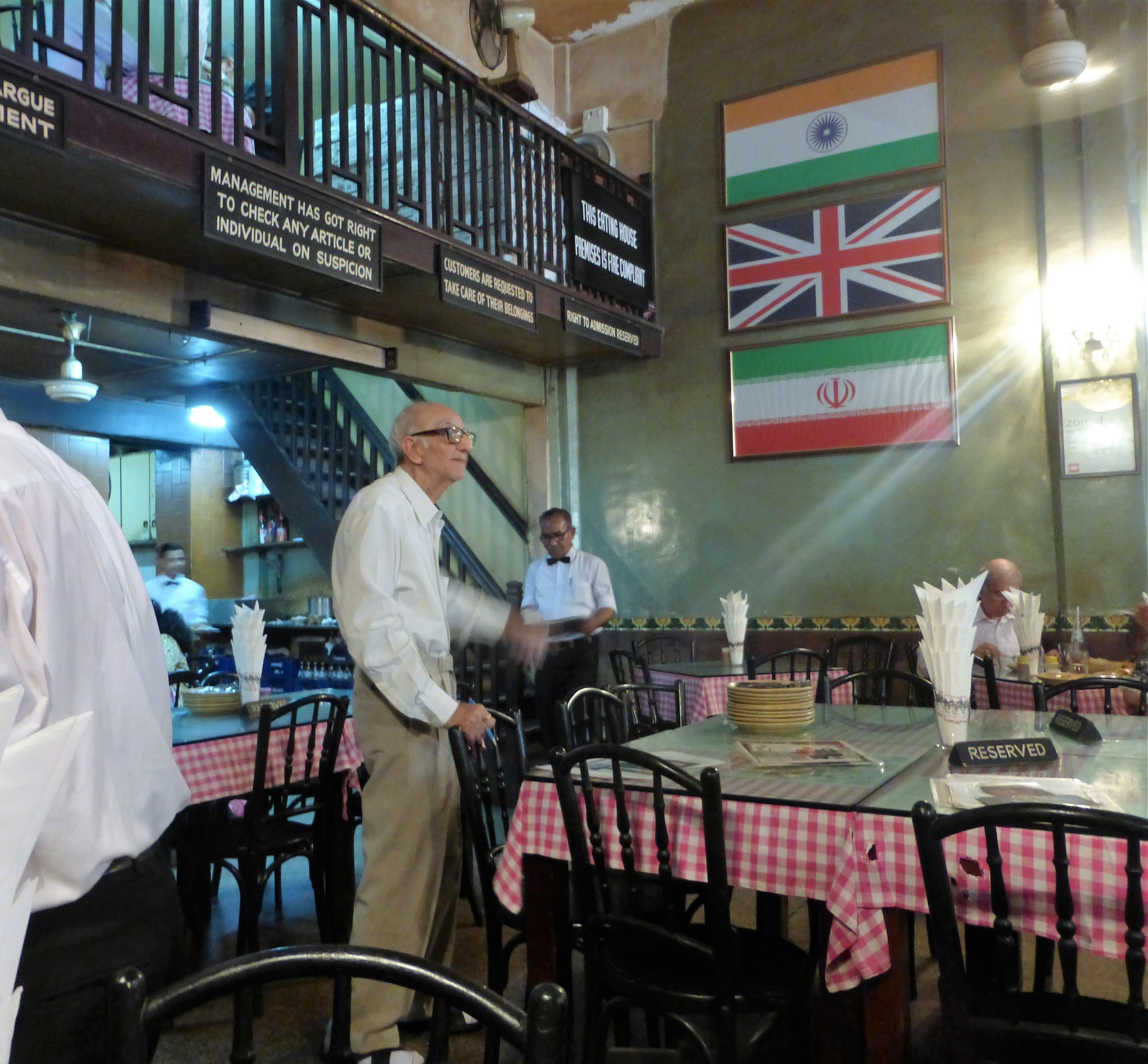 Boman Kohinoor, the proud owner of the Britannia restaurant in Mumbai