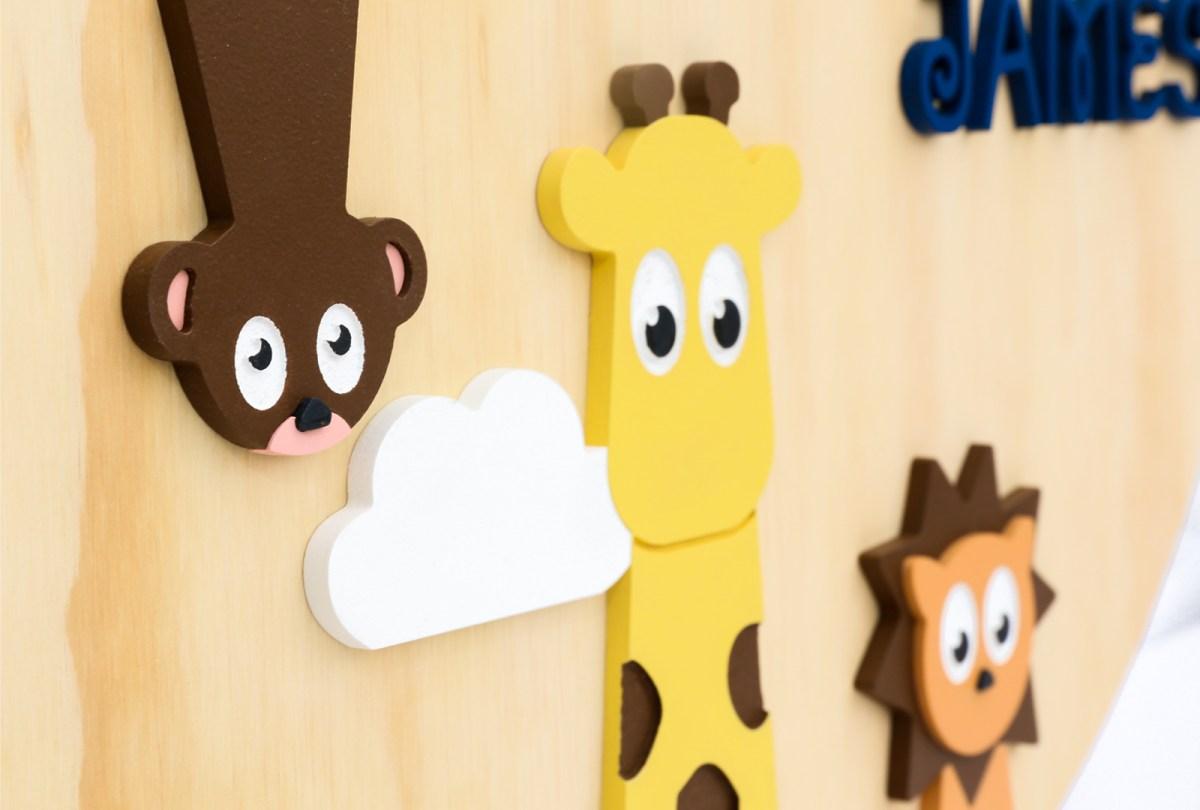 Wood Animal Name Plaque
