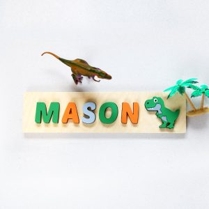 Dinosaur Wood Name Puzzle