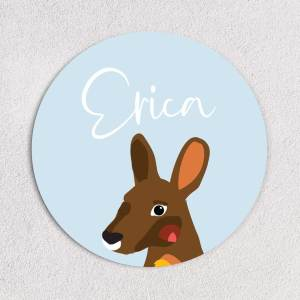 Kangaroo Name Plaque
