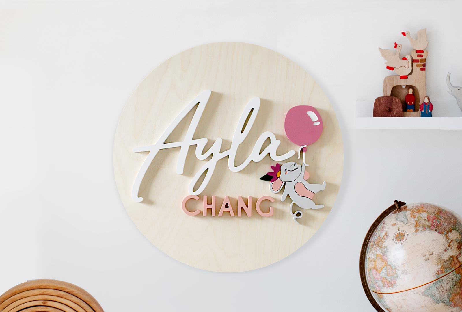 Customised Floating Mouse Balloon Plaque