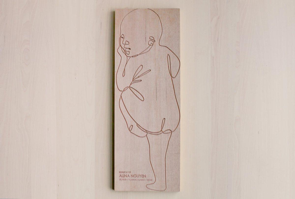 Wooden Birth Ruler