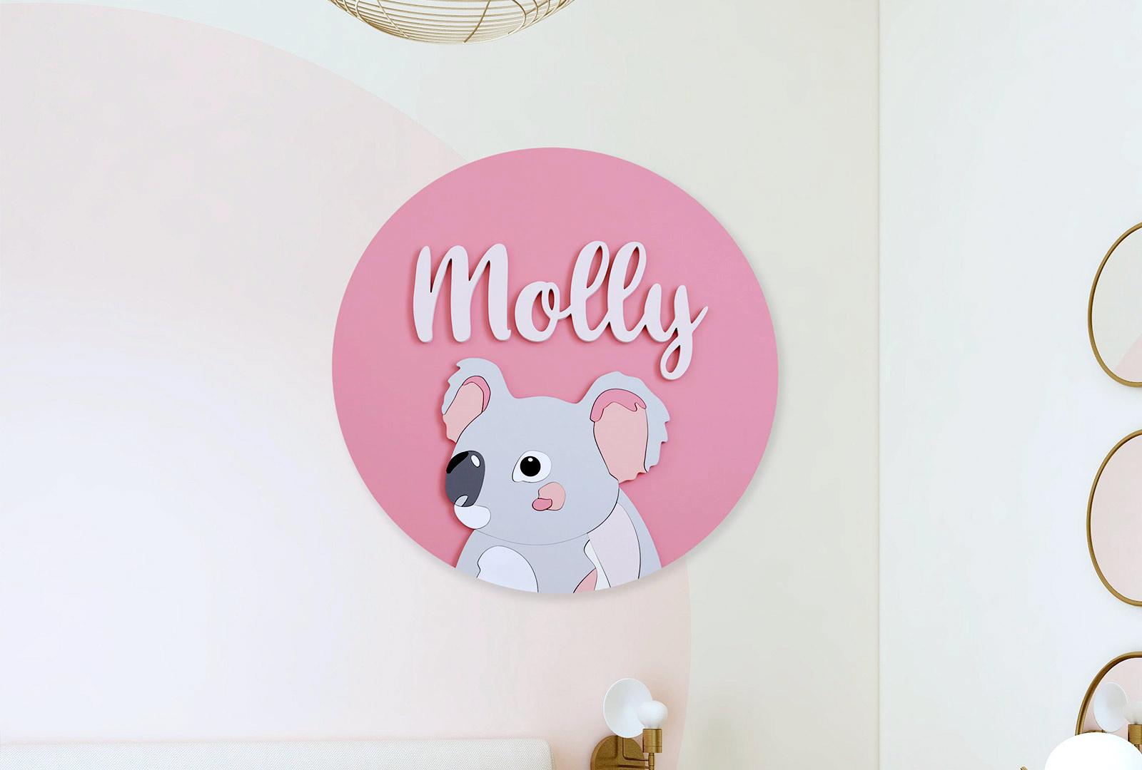 Koala Name Plaque