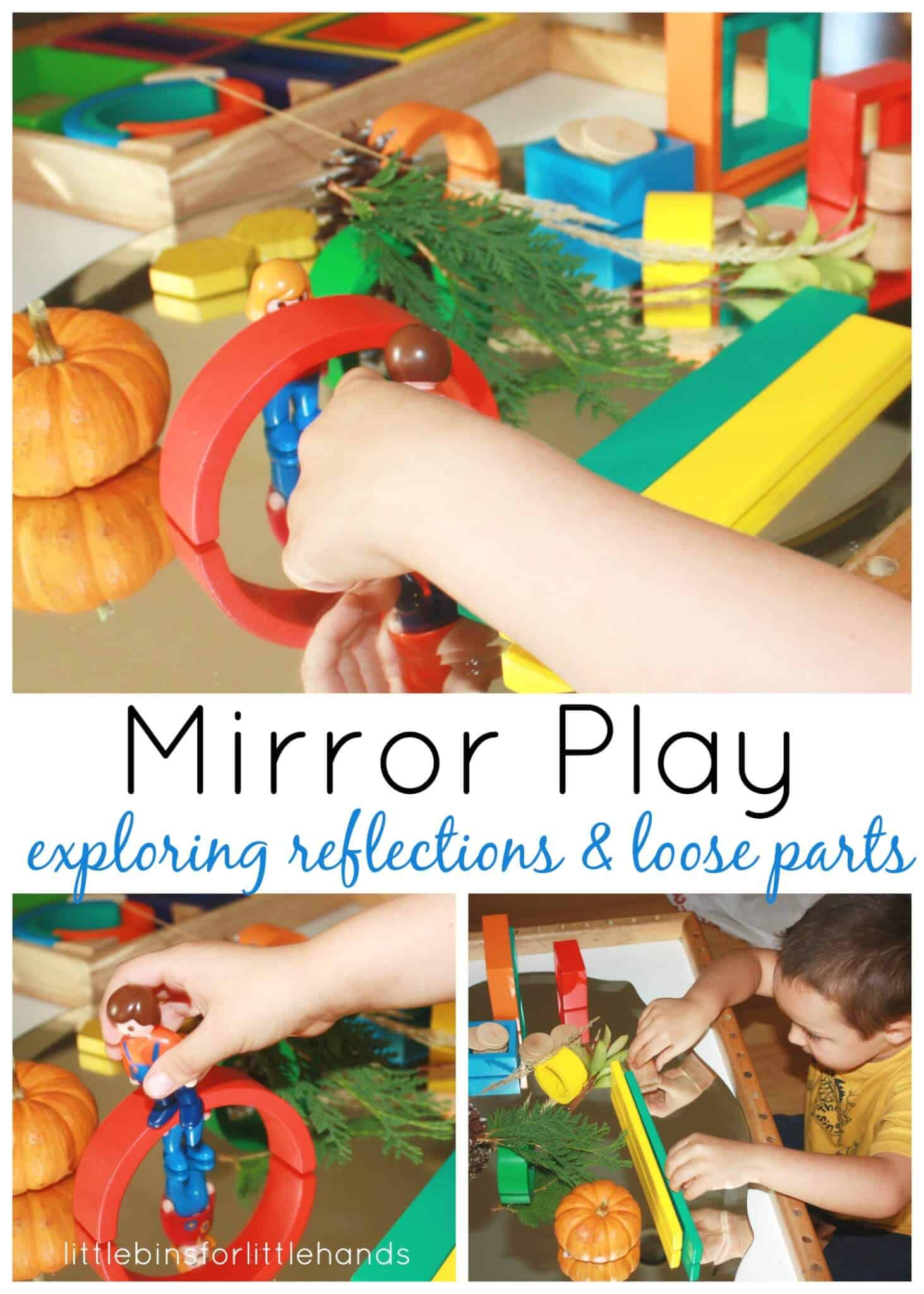 Preschool Discovery Table Mirror Play