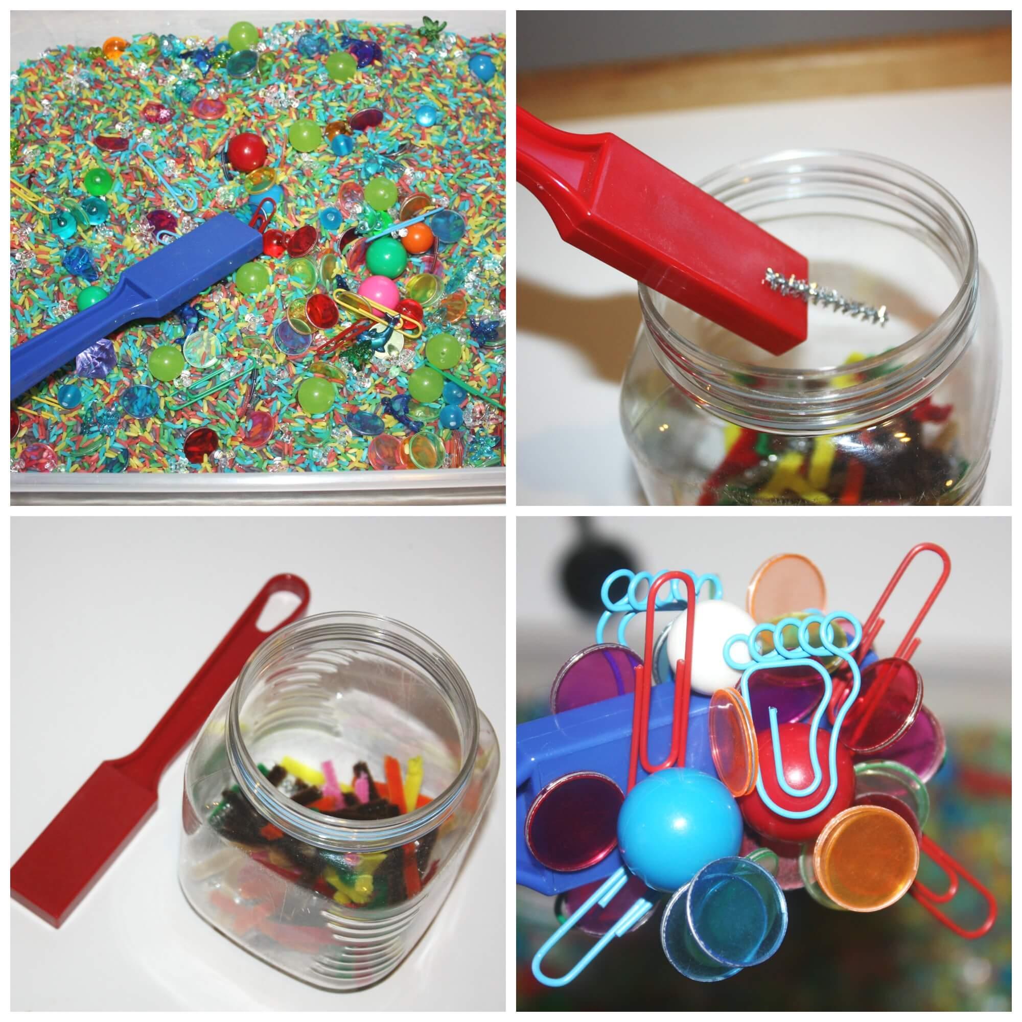 Exploring Magnets Preschool Science Center Table