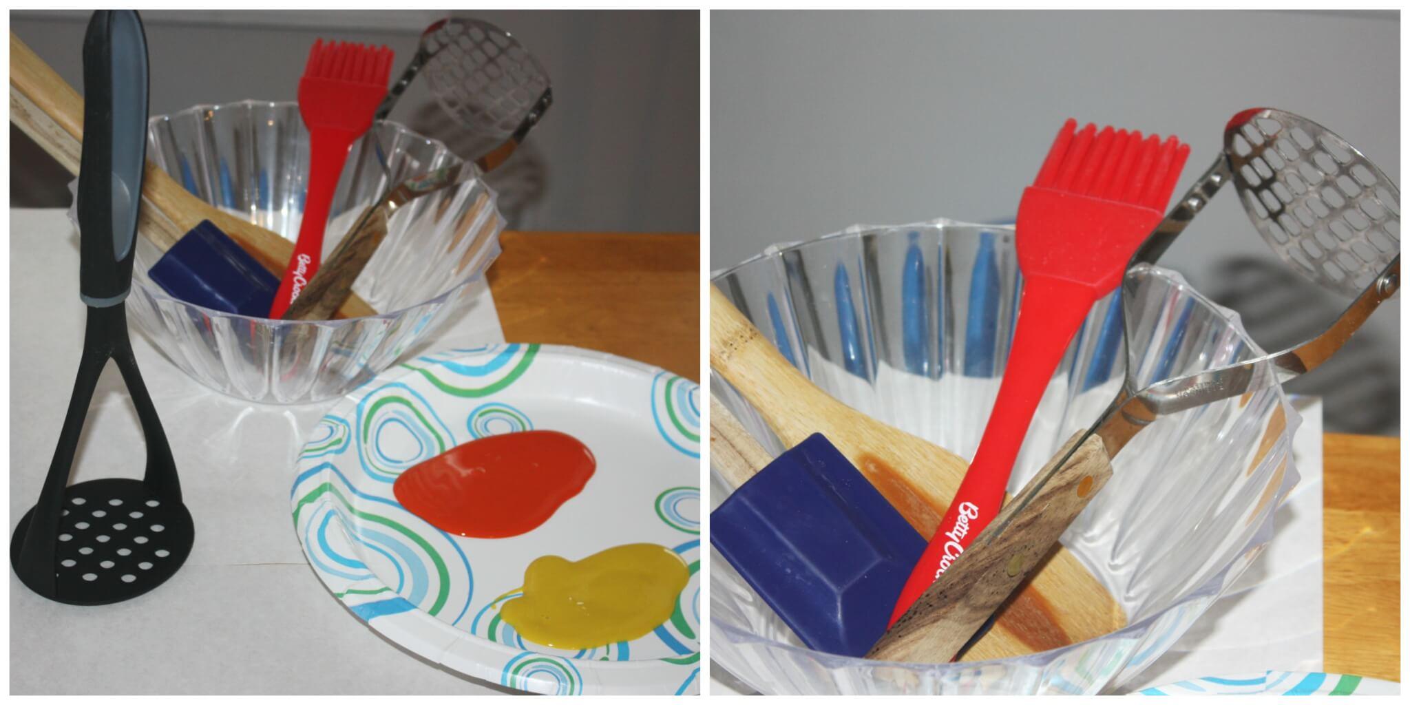 Kitchen Utensil Preschool Painting Activity