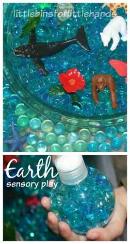 Earth Sensory Bin Earth Day Activity