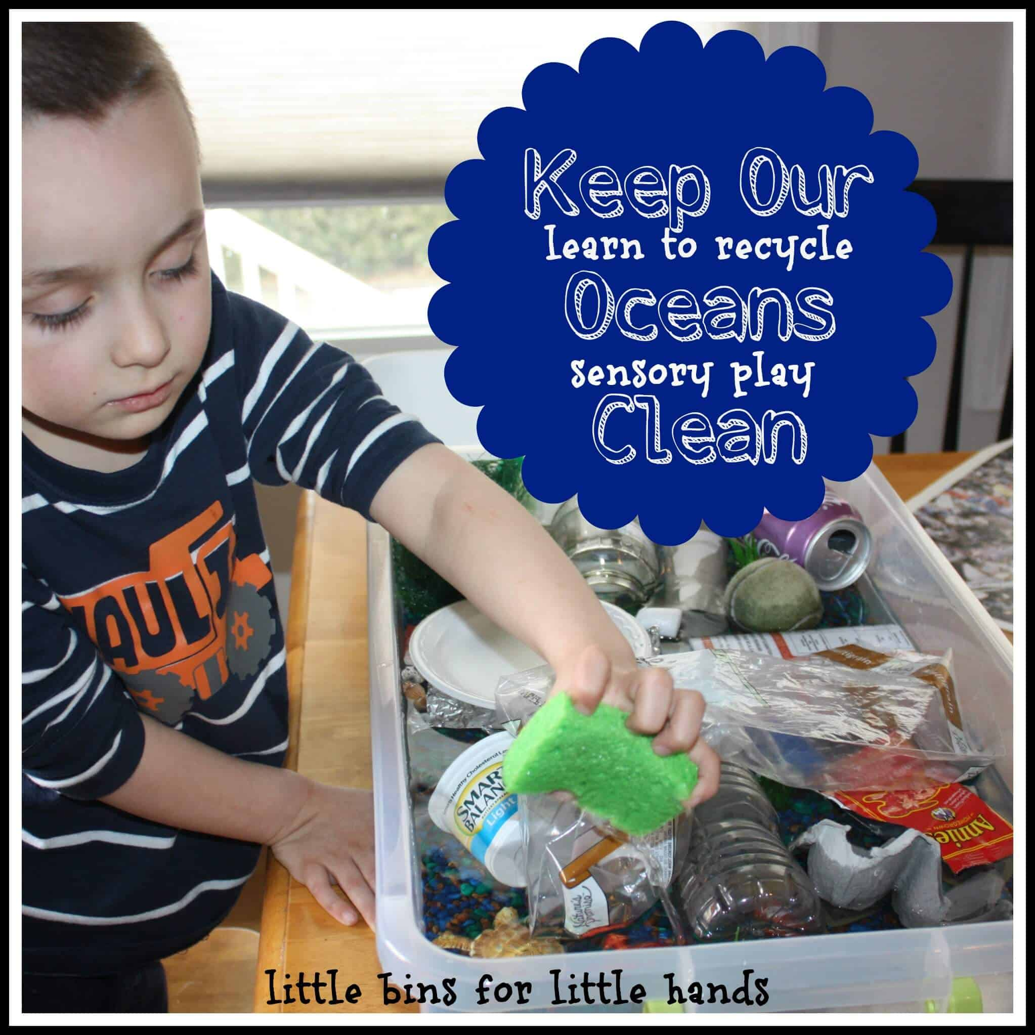 Protecting Our Ocean Sensory Play Amp Recycle Sorting Activity