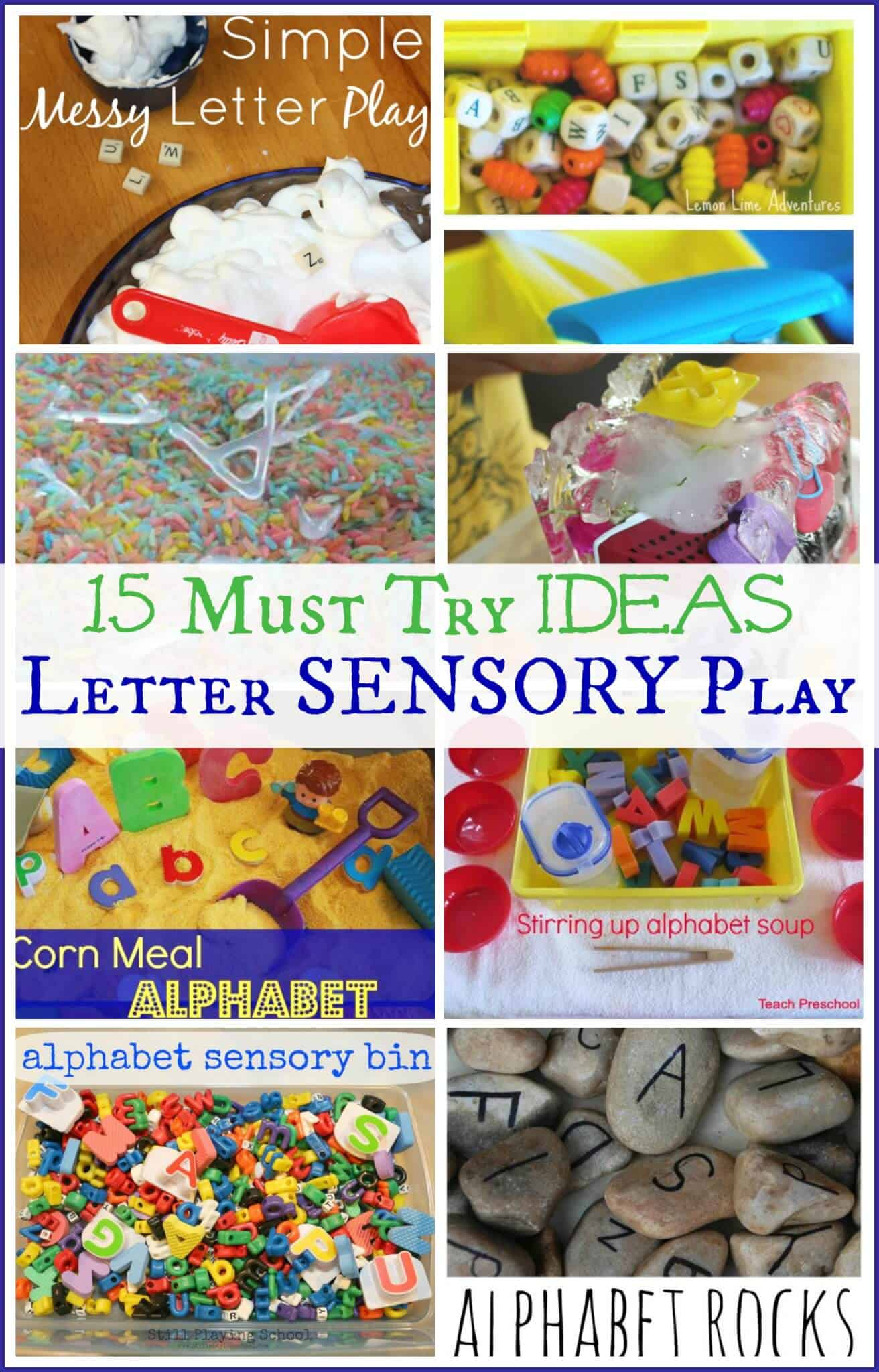 Must Try Letter Sensory Activities For Kids