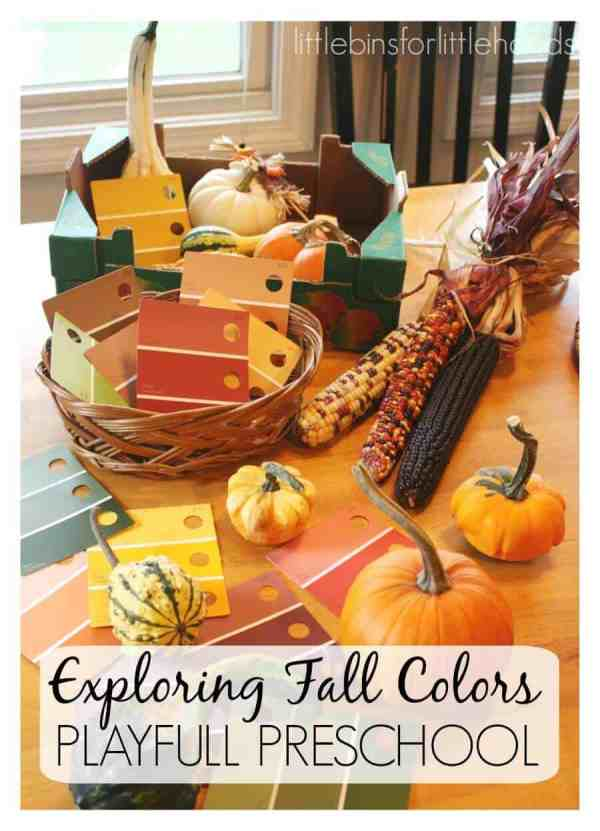 Fall Colors Preschool Fall Theme Exploring Colors Paint Cards