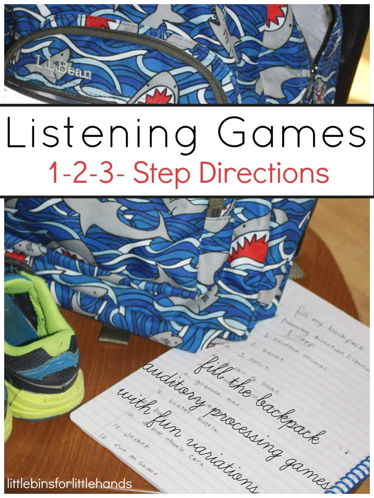 Listening Games For Auditory Processing Skills