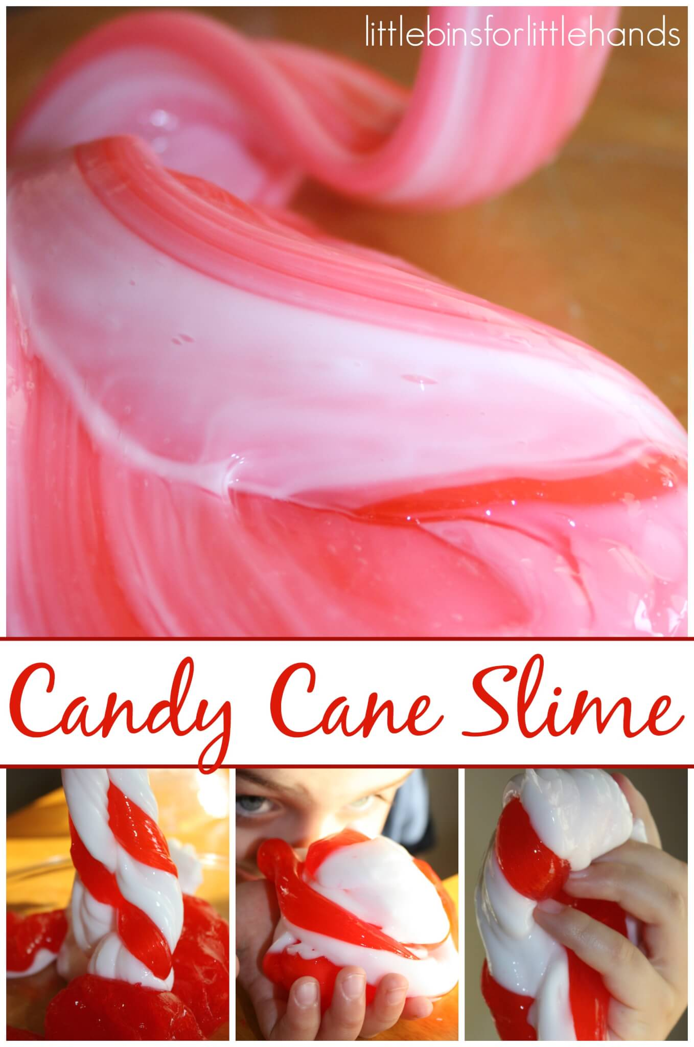 Candy Cane Slime Recipe And Christmas Science Activity