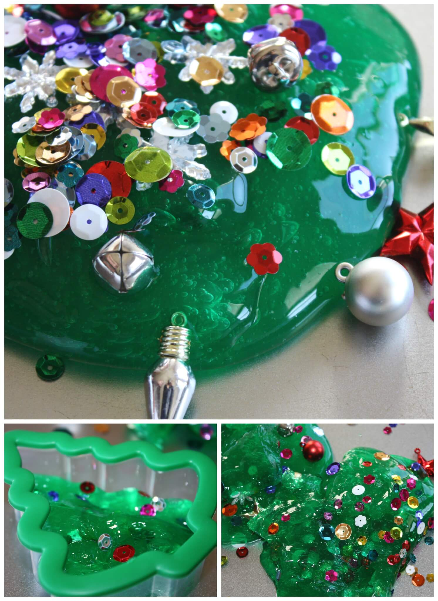 Christmas Tree Homemade Slime Christmas Science Activity