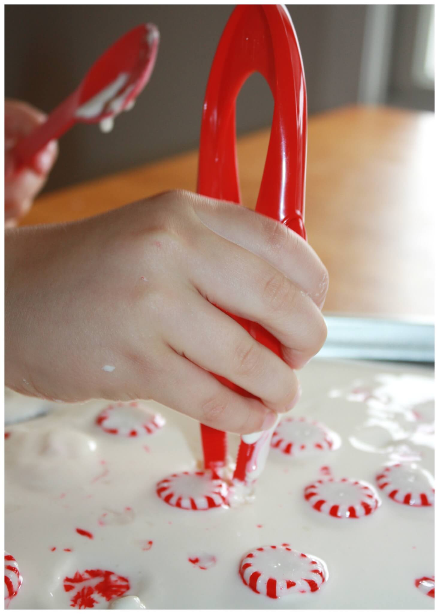 Peppermint Oobleck Candy Cane Christmas Science Activity