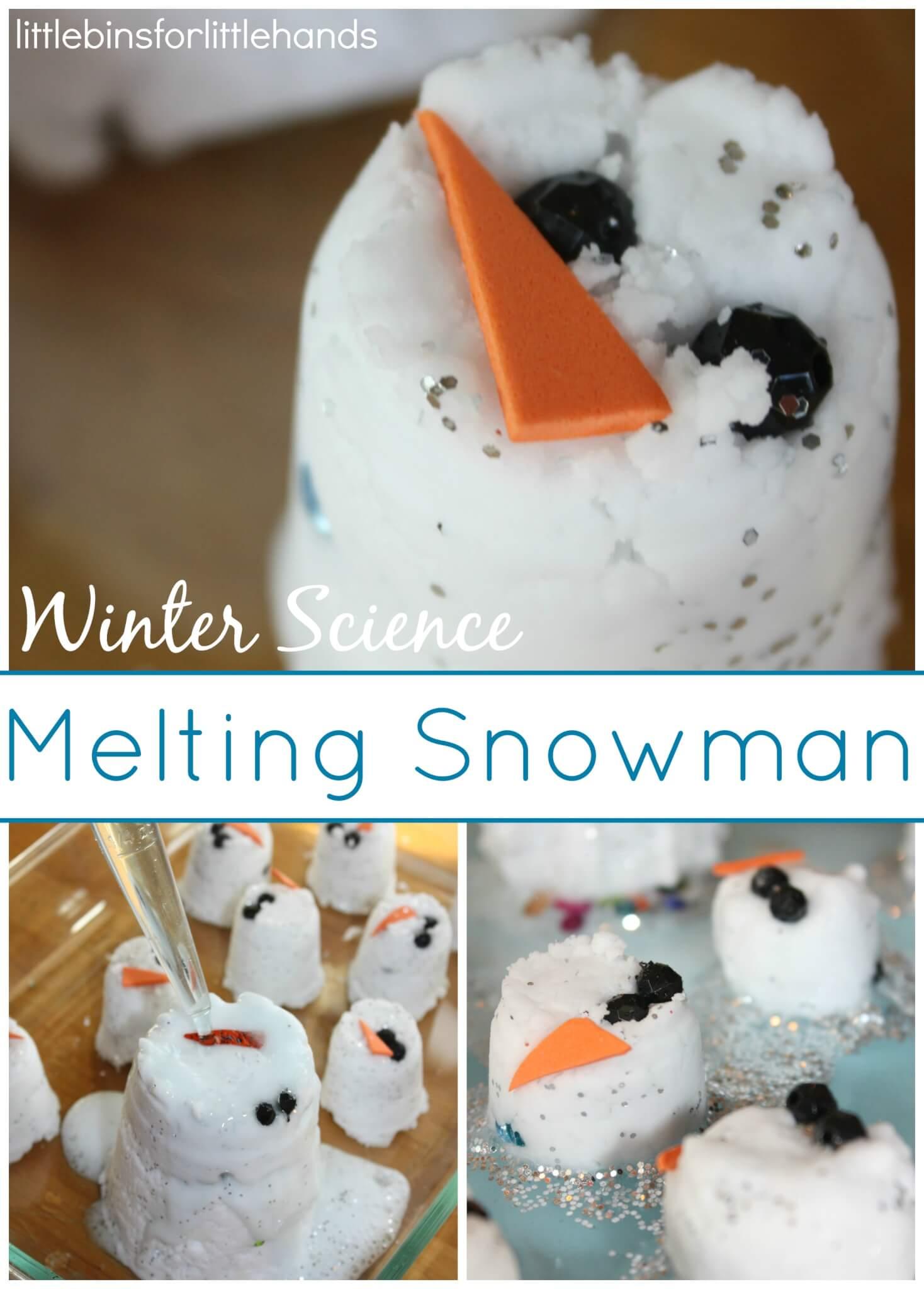 Snowman Baking Soda Science Sensory Play Activity