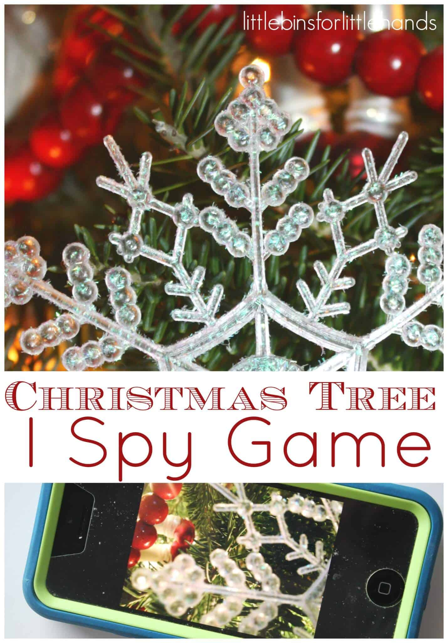 Christmas Tree I Spy Game And Christmas Party Activity For Kids