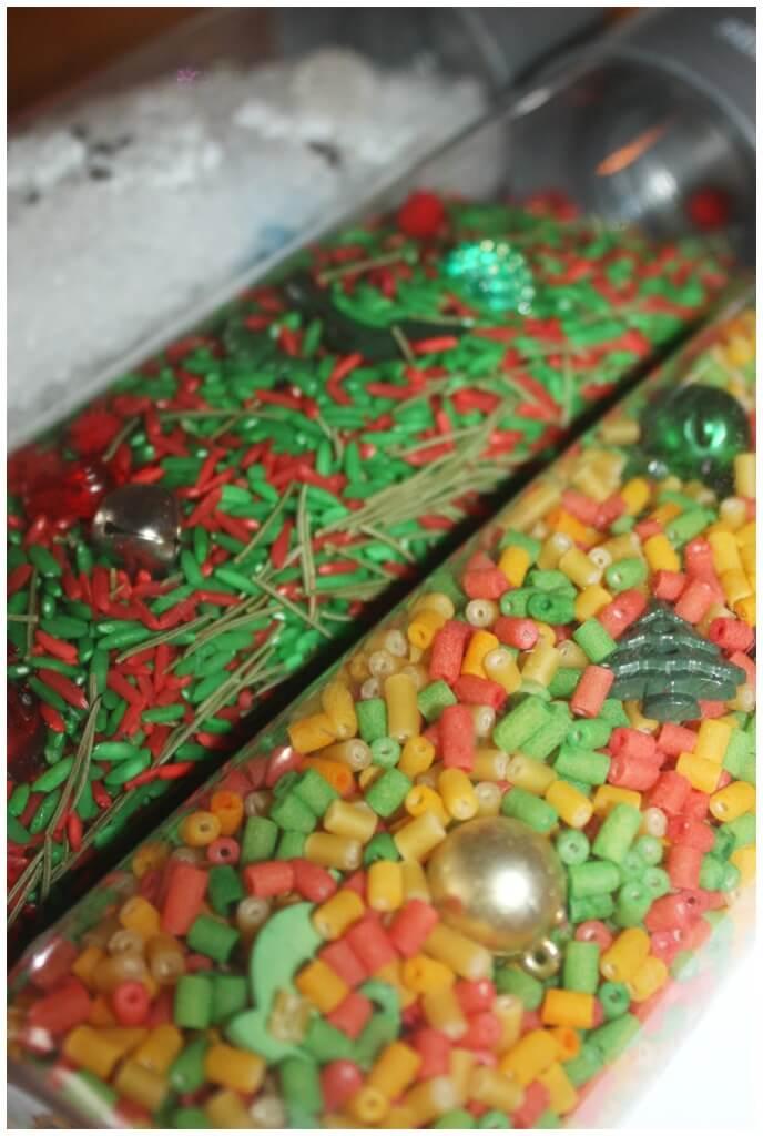 Christmas Sensory Bottles For I Spy Christmas Activities