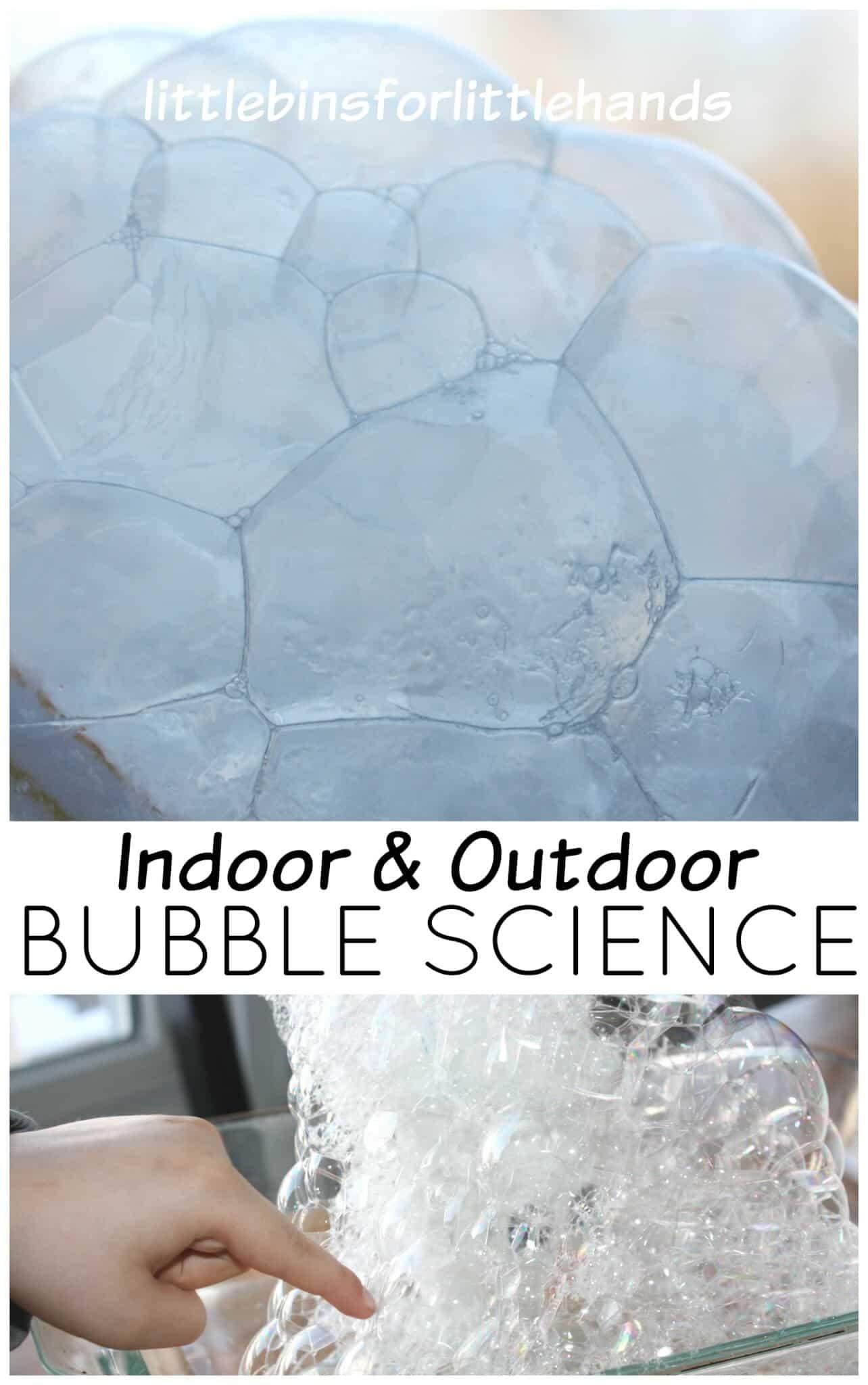 Freezing Bubbles Activity Indoor Outdoor Bubble Blowing