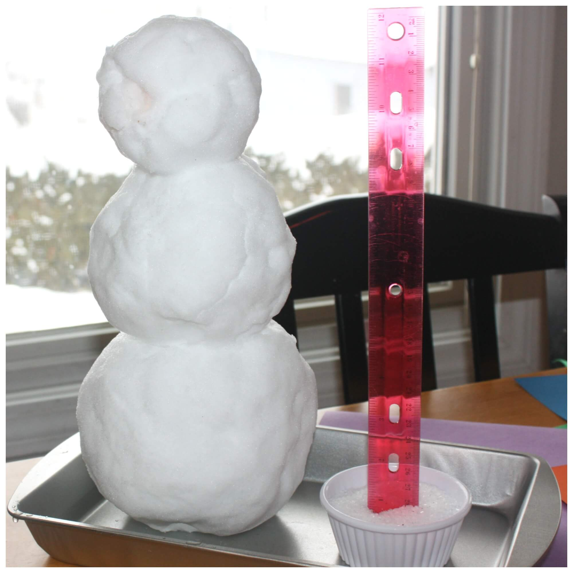 Snow Experiment Winter Melting Snowman Science