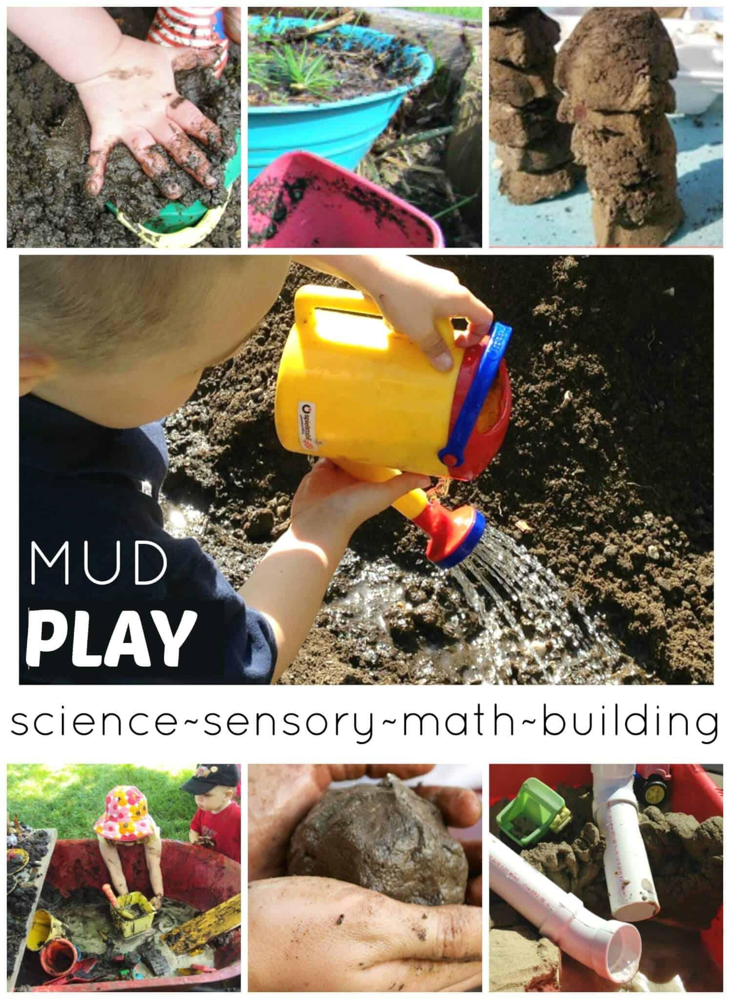 Mud Play Activities Sensory Science Math Building Play