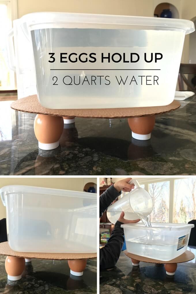 Eggshell strength experiment Easter STEM