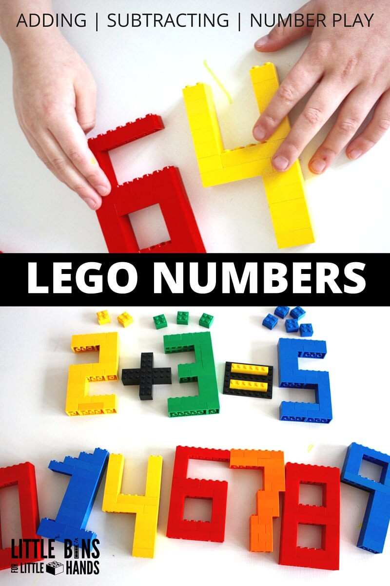 Build LEGO Numbers Math Activity For Kids