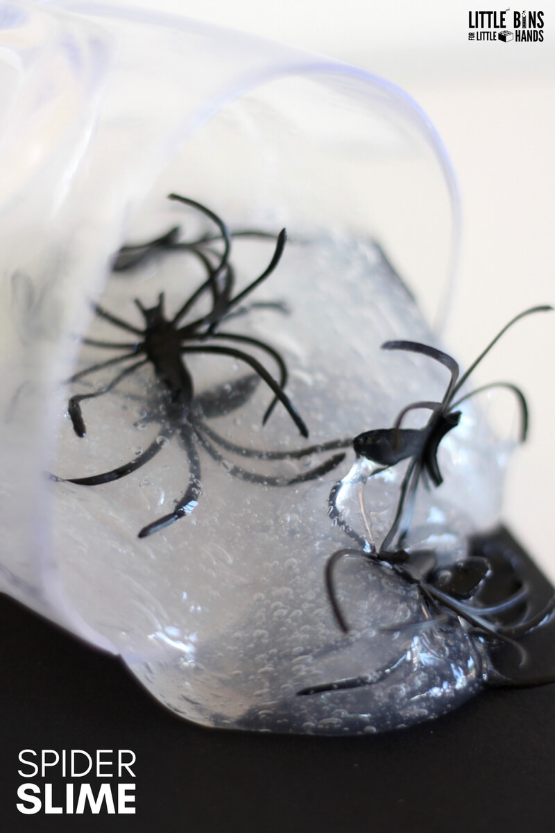 Spider Web Slime Activity For Fall Science Little Bins
