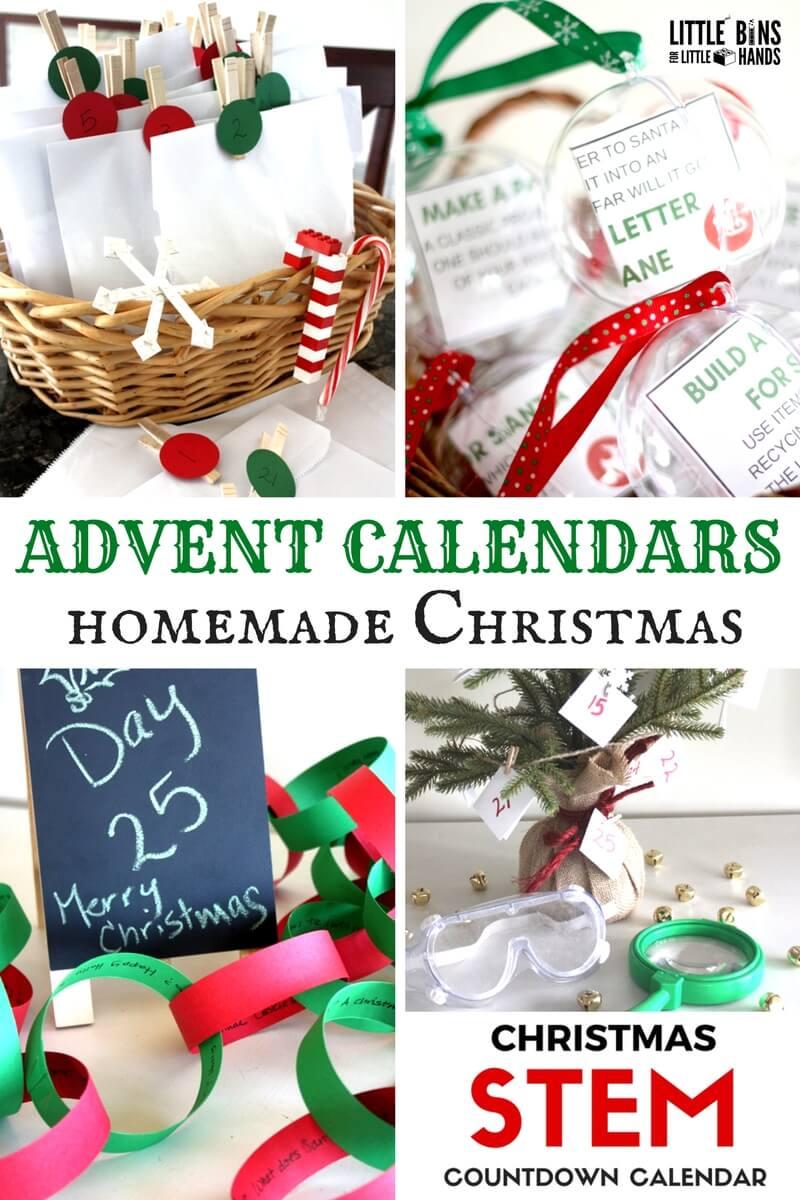 Homemade Advent Calendar Christmas Ideas For Busy Families