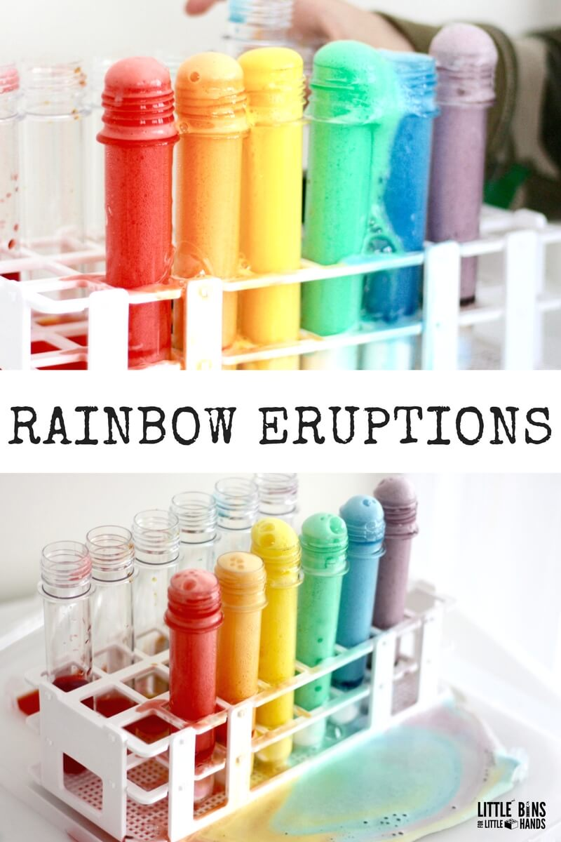 Erupting Rainbow Science Experiment for Kids Chemistry